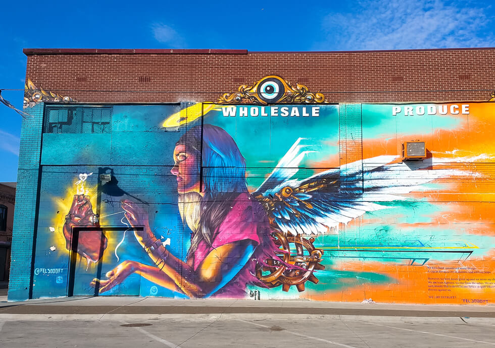 Photograph of previous mural completed by Fel3000ft in Eastern Market
