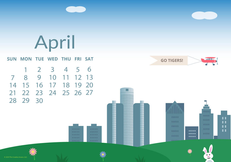 desktop wallpaper freebie April 2019