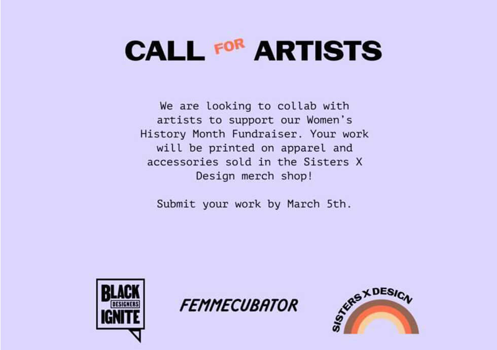 Sisters x Design Call for Artists Graphic